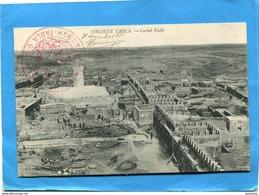 Marcophilie-campagne Du Maroc-carte Postale Colonne Tadla-cachet Rouge -campagne Casbah  Dec1914 - Marcophilie (Lettres)