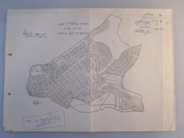 ISRAEL PALESTINE SAFAD MEIBERG KIRYIAT SARA MAP KNAAN 1944 PAPER STATIONERY LETTER DESIGN ORIGINAL - Manuscripts
