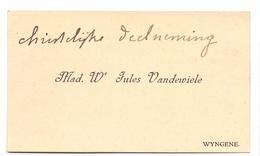 Visitekaartje - Carte Visite - Mad We Jules Vandewiele - Wingene - Cartes De Visite