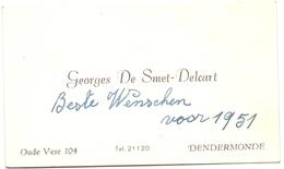 Visitekaartje - Carte Visite - Georges De Smet - Delcart - Dendermonde - Cartes De Visite