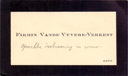 Visitekaartje - Carte Visite - Firmin Vande Vyvere - Verkest - Gits - Cartes De Visite