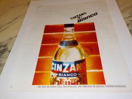 ANCIENNE PUBLICITE CINZANO LE BIANCO 1968 - Publicités