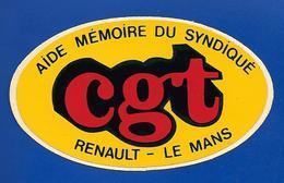 A.C  RENAULT LE MANS Cgt - Autocollants