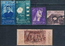 Egipto 1958 / 59  - Yvert 423 + 426 + 427 + 462 + 470   ( Usados ) - Usados