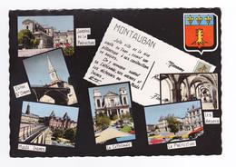 82 Montauban En 6 Vues Et Blason N°25475 En 1961 - Montauban