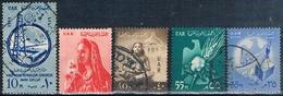 Egipto 1958 / 59  -  Yvert 448 + 456 + 463 + 464  ( Usados ) - Usados