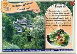 Recette Restaurant Le Robinson 81 Albi : Aumonière De Chèvre Chaud - N° 4 - Réalisation Sarl Cible - TBE - Recettes (cuisine)