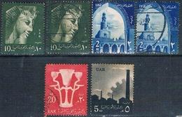 Egipto 1959 / 60  -  Yvert 456 + 459 + 460 + 461  ( Usados ) - Usados
