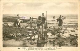 76 VEULES-LES-ROSES. La Pêche à La Crevette 1936 - Veules Les Roses