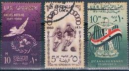 Egipto 1960  -  Yvert 476 + 484 + 489  ( Usados ) - Egipto