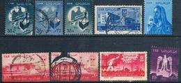 Egipto 1961  -  Yvert 462 + 492 + 500 + 501 + 508 + 510 + 511  ( Usados ) - Egipto