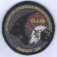Insigne Gendarmerie Nationale - Groupe D'Intervention De La Gendarmerie - Ghost 34 - Police & Gendarmerie