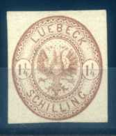 LUBECK - 1864 COAT OF ARMS BROWN - Luebeck