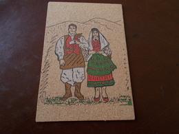 B719  Cartolina In Sughero Non Viaggiata Costume Quartu Cm14x9 - Quartu Sant'Elena