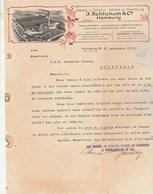 Allemagne Lettre Illustrée 7/11/1913 J SCHLICKUM Wachs U Ceresin Werke Zu HAMBURG - Allemagne