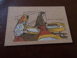 B719  Cartolina In Sughero Non Viaggiata Cm14x9 Sinnai Sardegna Costume - Quartu Sant'Elena