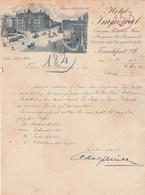Allemagne Lettre Illustrée 13/5/1914 HOTEL IMPERIAL FRANKFURT - Germania
