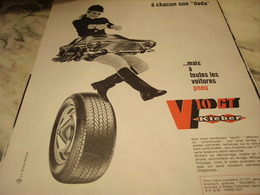 ANCIENNE PUBLICITE A CHAQUN SON DADA PNEU KLEBER 1968 - Voitures
