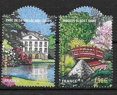 France 2006 N° 3895/3896 Neufs Jardins De France Sous Faciale - Nuevos