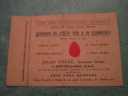 SAINT-CYR-sur-MORIN - Auberge De L'Oeuf Dur & Du Commerce - Julien CALLE, Successeur Général - France