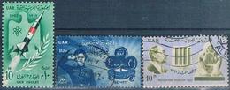Egipto 1962  -  Yvert 521 + 540 + 543  ( Usados ) - Egipto