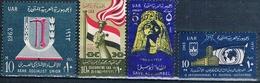 Egipto 1963  -  Yvert 559 + 566 + 567 + 569  ( Usados ) - Egipto