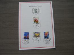 """BELG.1969 1492-1495 FDC Filatelia Card :  """"Philanthropique /Filantropische : UNICEF """" - Herdenkingskaarten"""