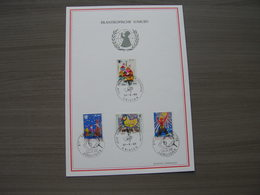 "BELG.1969 1492-1495 FDC Filatelia Card :  ""Philanthropique /Filantropische : UNICEF "" - Cartes Souvenir"