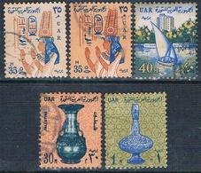 Egipto 1964  -  Yvert 578 + 587 + 588  ( Usados ) - Egipto