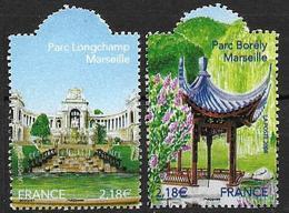 France 2008 N° 4173/4174 Neufs Jardins De France Sous Faciale - France