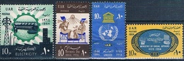 Egipto 1964  -  Yvert 600 + 607 + 634 + 635  ( Usados ) - Egipto