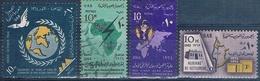 Egipto 1964  -  Yvert 599 + 624 + 625 + 630  ( Usados ) - Egipto