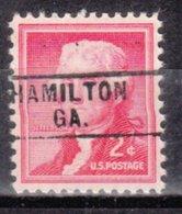 USA Precancel Vorausentwertung Preo, Locals Georgia, Hamilton 745 - Vereinigte Staaten