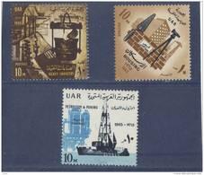 Egipto 1965  -  Yvert 651 + 652 + 653  ( ** ) - Egipto