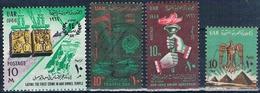 Egipto 1966  -  Yvert 583 B + 672 + 673 + 678  ( Usados ) - Egipto
