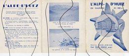DOCUMENT. CARTE DE VISITE IDENTIFIÉE. D38.  L'Alpe D'Huez. HOTEL EDELWEISS. PAUL VIEUX PERNON - Tarjetas De Visita