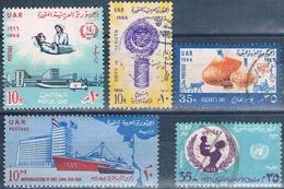 Egipto 1966  -  Yvert 670 + 679 - 682 + 685 + 689  ( Usados ) - Egipto