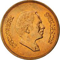 Monnaie, Jordan, Hussein, 10 Fils, Qirsh, Piastre, 1989, SUP+, Bronze, KM:37 - Jordanie