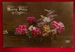 Jolie CP Ancienne Colorisée Bonne Fête Ed Furia 1850/3 - Fleur - écrite 21-03-1919 - Fêtes - Voeux