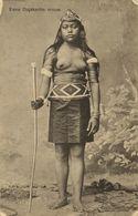 Indonesia, BORNEO, Topless Nude Native Dayak Dajak Woman (1910s) Postcard - Indonesië