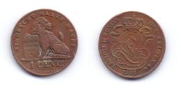 Belgium 1 Centime 1901 (legend In Dutch) - 1865-1909: Leopold II