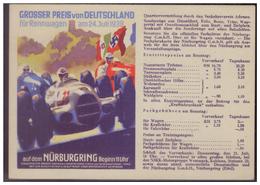 Dt- Reich (007677) Postkarte, Grosser Preis Von Deutschland, Nürburgring Am 24.7.1938, Gest. Verden Am 1.7.1938 - Deutschland