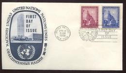 "1958 ""FDC"" - New York -  VN Hauptquartier"