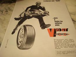 ANCIENNE PUBLICITE A CHAQUN SON DADA PNEU KLEBER 1968 - Transports