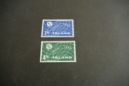 K11631- Set  MNh Iceland - Island - 1965- SC. 370-371- YV. 345-346- ITU -UIT - 1944-... Republique