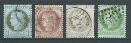 FRANCE 1872 . Cérès III République . N°s 50 , 51 52 Et 53 Oblitérés . - 1871-1875 Ceres