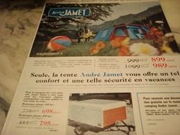 ANCIENNE PUBLICITE TENTE DAUPHINALP DE ANDRE JAMET 1968 - Publicité
