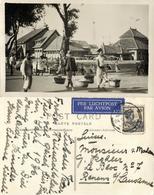 Indonesia, JAVA BATAVIA, Street Sellers (1935) RPPC Postcard - Indonesia