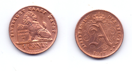 Belgium 1 Centime 1912 (legend In Dutch) - 1909-1934: Albert I