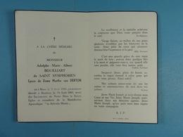 Adolphe Bouilliart De Saint Symphorien épx Van Derton Mons 1884 Baudour 1960 - Images Religieuses